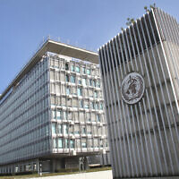 The World Health Organization (WHO) headquarters building in Geneva, Switzerland, file (AP Photo/Raphael Satter)