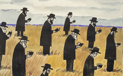 'An Open Air Minyan' by Zoya Cherkassky (Courtesy of the artist)