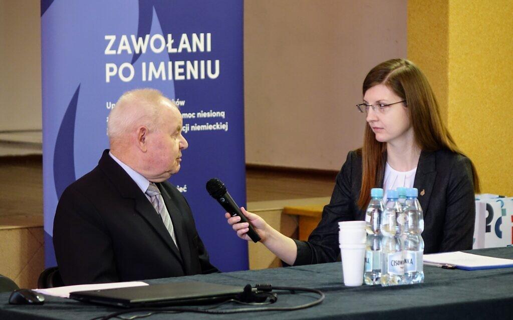 Agnieszka Dąbek at a Called by Name event. (Courtesy Pilecki Institute)
