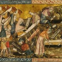 Citizens of Tournai bury Black Plague victims. Pierart dou Tielt, 1340-1360 (Public Domain)