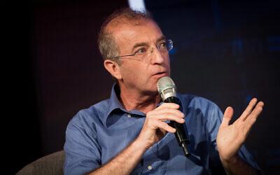 National Insurance Institute's Director General Meir Spiegler at a conference at the Jerusalem International Convention Center (ICC) on September 3, 2018 (Yonatan Sindel/Flash90)
