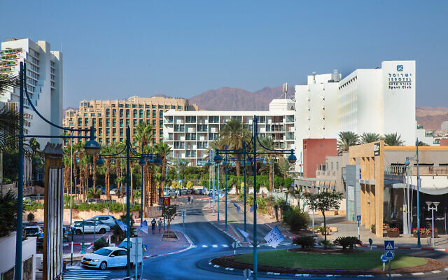 The resort city of Eilat, southern Israel. November 11, 2019. (Moshe Shai/ FLASH90)