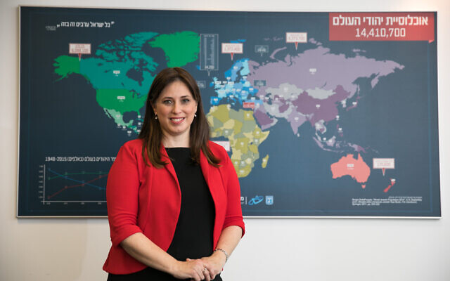 Minister of Diaspora Affairs Tzipi Hotovely poses for a picture at her office in Jerusalem, February 19, 2020 (Olivier Fitoussi/Flash)