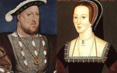 Henry VIII (Hans Holbein the Younger) and Anne Boleyn (unknown artist). (Public domain)