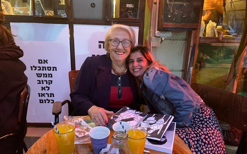 Holocaust survivor Sara Melzer and May, a volunteer from the Dor L'Dor organization who has become a close friend. (Courtesy Dor L'Dor)