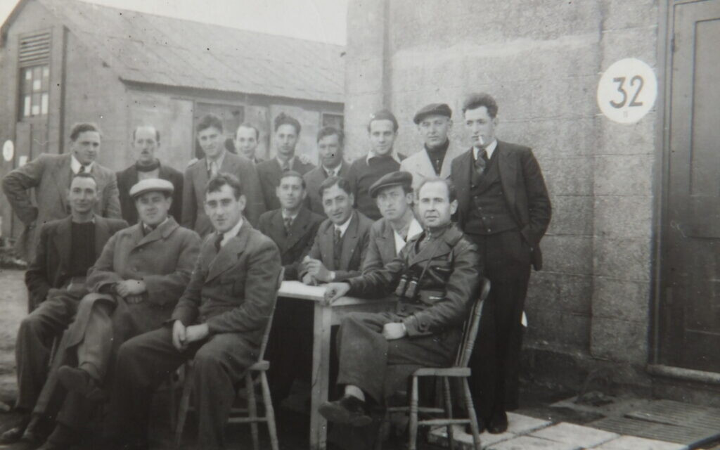 Hugo Heilbrunn and members of Hut 32. (Courtesy/ family of Hugo Heilbrunn)