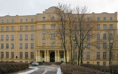 The Hotel Ilan in Lublin, Poland, shares a building with what was formerly one of the largest yeshivas in the world. (Wikimedia Commons via JTA)