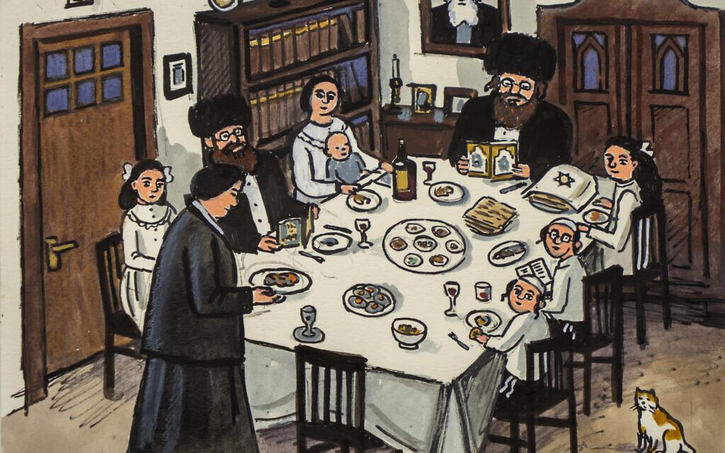 Passover Seder by Zoya Cherkassky (Courtesy of the artist)