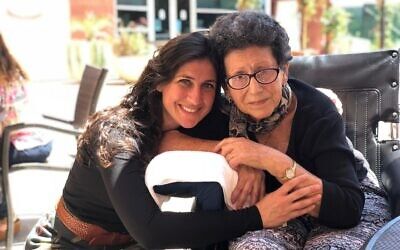 Rachel Kaufman with her mother Margarete. (Courtesy)