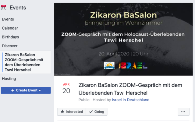 The Facebook invitation to the event (Screen capture/Facebook)