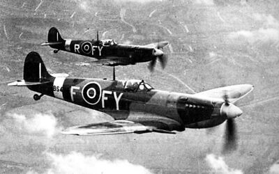 RAF Spitfires based at the Biggin Hill airbase in southern England. (Public domain)