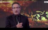 Screen capture from video of Argentine journalist Tomás Ariel Méndez on ADN Tv. (JTA)