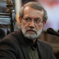 Iranian Parliament Speaker Ali Larijani gives a press conference in Tehran, Iran, December 1, 2019 . (AP/Vahid Salemi, File)