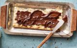 Adeena Sussman's Olive Oil Chocolate Spread on matzah, from the 'Sababa' cookbook (Courtesy Adeena Sussman)