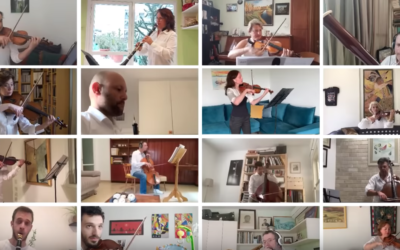 Members of the Israel Philharmonic created a Passover video greeting of seder song favorites (Courtesy Israel Philharmonic)