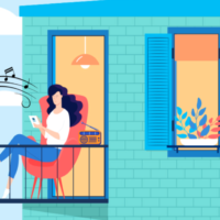 Shabbat UNPLUGGED invites Israelis to come out on their balconies on Fridays at 5 p.m., to welcome the Sabbath together (Courtesy Israeli Associations of Community Centers)