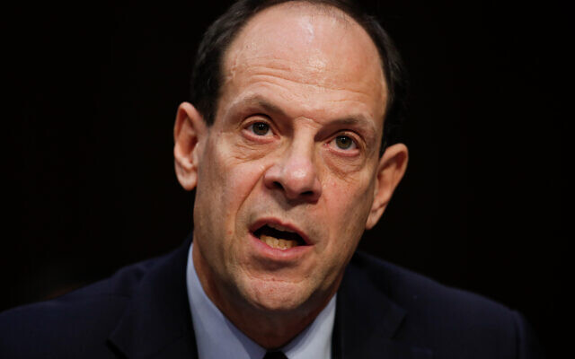 Glenn Fine, then Acting Inspector General from the US Department Of Defense, testifies during a Senate Judiciary Committee hearing on Capitol Hill in Washington, December 6, 2017. (AP/Carolyn Kaster)