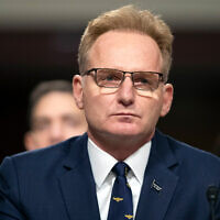 Thomas Modly testifies during a hearing of the Senate Armed Services Committee, December 3, 2019. (AP/Alex Brandon, File)