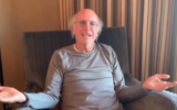 Larry David in a public service announcement video posted on March 31, 2020, by the office of California Governor Gavin Newsom. (Screenshot: Facebook)
