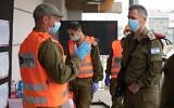 IDF Chief of Staff Aviv Kohavi visits the city of Bnei Brak in central Israel, which is largely closed off from the rest of the country due to a coronavirus outbreak, on April 5, 2020. (Israel Defense Forces)