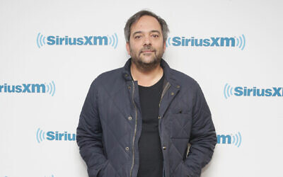 Adam Schlesinger at SiriusXM Studios in New York, April 19, 2018. (Mireya Acierto/Getty Images via JTA)