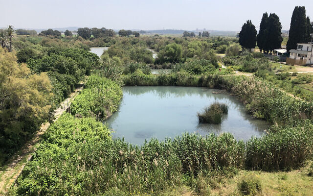 Empty: The Ein Afek Nature Reserve has been closed to visitors since March 18 because of coronavirus. (Sue Surkes/Times of Israel)