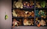 The children's playroom at an abused women's shelter in Beit Shemesh, July 15, 2014. (Hadas Parush/Flash90)