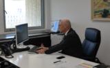 Yair Avidan takes up his post as Supervisor of Banks at the Bank of Israel on May 17, 2020 (Courtesy)