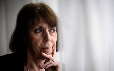 Holocaust survivor Florence Schulmann, born in 1945 at the Bergen-Belsen camp, in Paris on January 23, 2020. (Lionel BONAVENTURE/AFP)