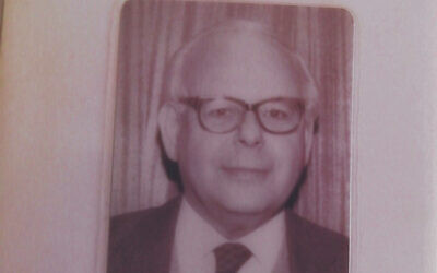 A picture of Herbert Max Fraenkel that a team of volunteers studying his ancestry found in January at his home in London. (Courtesy of The Jewish News/ via JTA)