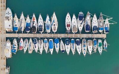 Boats moored at Tel Aviv Marina, Tel Aviv, April 2020. (Photo by Lord K2)