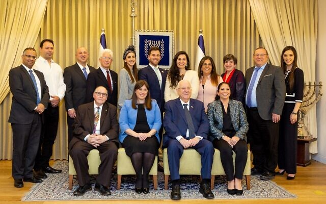 Israelis and American Jews at the President's Residence, February 2020 (credit: Yael Schmidt)