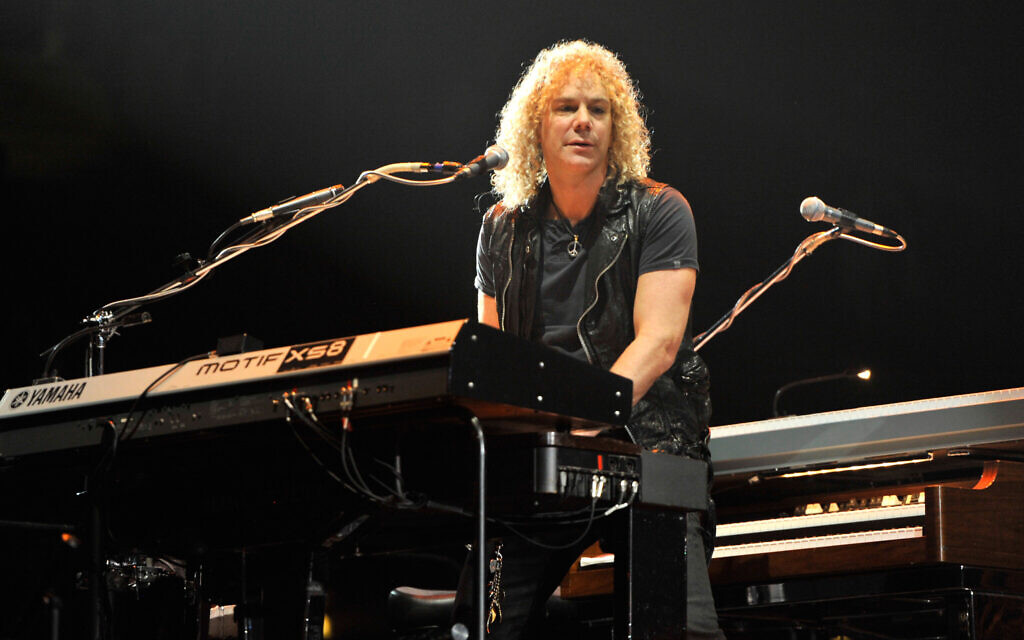 David Bryan performs with Bon Jovi at the Nassau Coliseum in Uniondale, New York, May 6, 2011. (Kevin Mazur/WireImage/Getty Images/ via JTA)