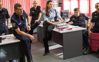 The cast of 'Hashoter Hatov.' (Netflix/ via JTA)