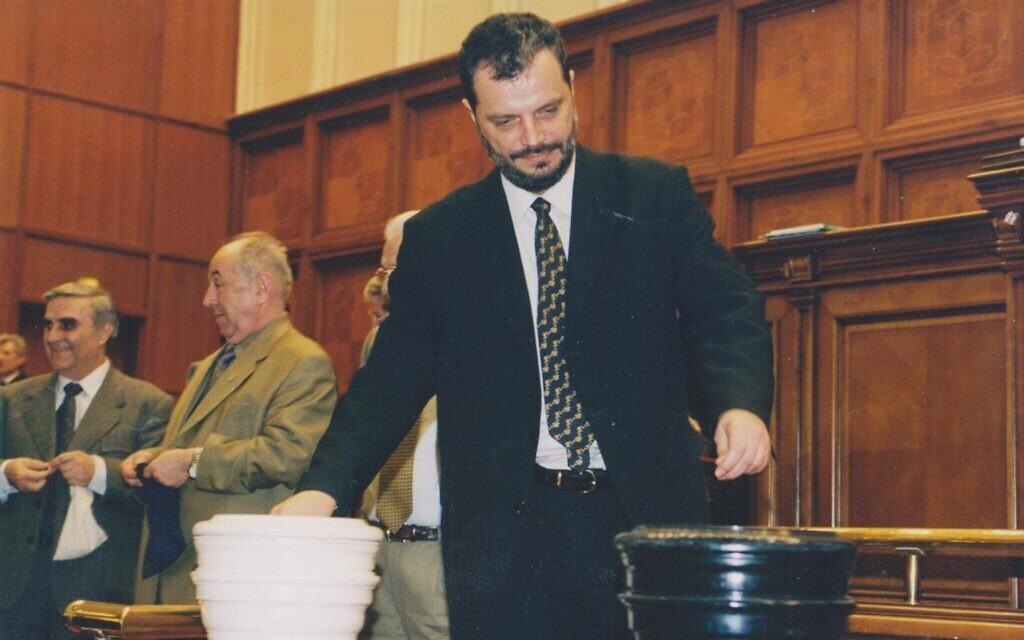 Peter Eckstein-Kovacs served in Romania's government for nearly two decades. (Courtesy of Eckstein-Kovacs/ via JTA)