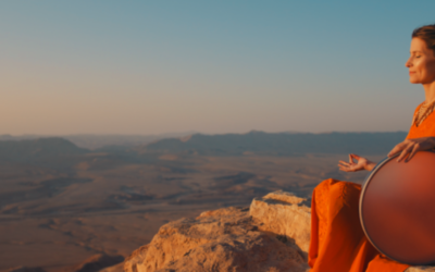 Frame drummer and flutist Marla Leigh Goldstein came to Israel from California in November 2019 to film the video for her debut album, 'Tof Miriam,' on the dunes of the Negev Desert (Courtesy Marla Leigh Goldstein)