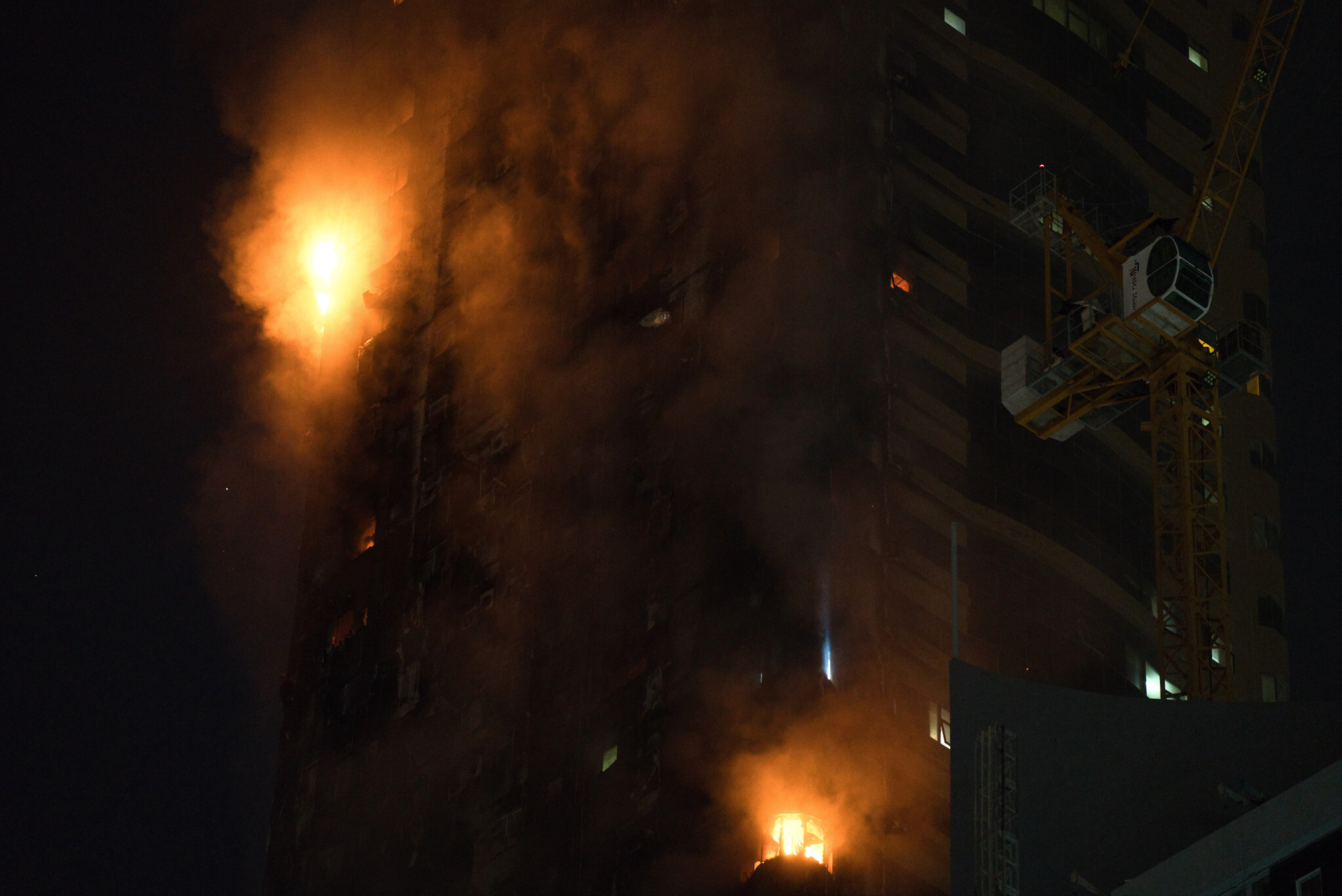 Massive fire at residential tower in UAE`s Sharjah, five injured