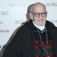 Playwright Larry Kramer attends Acria's 19th Annual Holiday Dinner Benefit at Skylight Modern on December 10, 2014, in New York. (Photo by Donald Traill/Invision/AP)