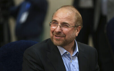 Mohammad Bagher Qalibaf in Tehran, Iran in 2017 (AP Photo/Vahid Salemi)