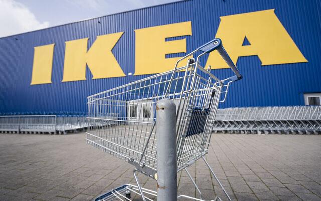 A branch of the furniture chain Ikea in Wallau near Wiesbaden, Germany, March 17, 2020  (Frank Rumpenhorst/dpa via AP)