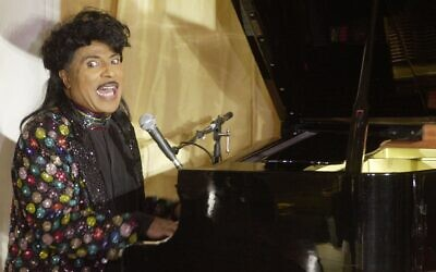 In this July 22, 2001, photo, Little Richard performs at the 93rd birthday and 88th year in show business gala celebration for Milton Berle, in Beverly Hills, California (AP Photo/John Hayes,)