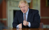 In this photo issued by 10 Downing Street on May 10, 2020, Britain's Prime Minister Boris Johnson delivers an address on lifting the country's lockdown amid the coronavirus pandemic (Andrew Parsons/10 Downing Street via AP)