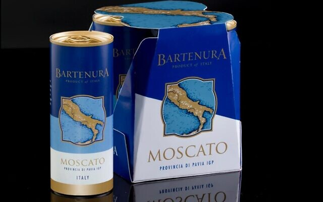 Bartenura Moscato wine in a can (Courtesy from JTA)