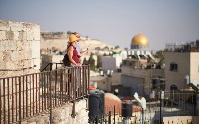 Make a pilgrimage to Jerusalem for Shavuot 2020, taking advantage of new walking paths opened on the rooftops and ancient walls of the city (Courtesy Jerusalem municipality)