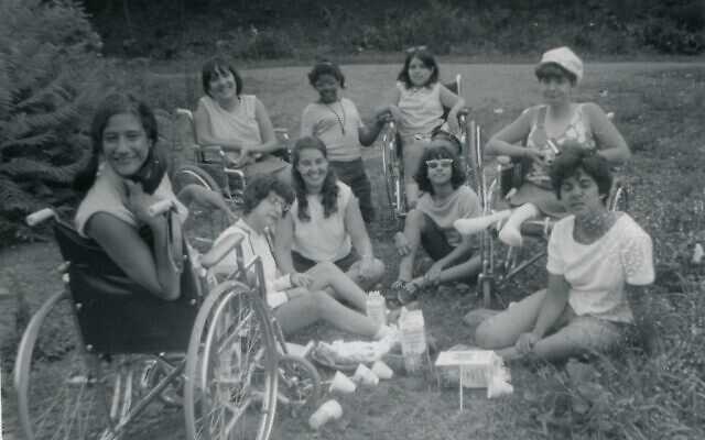 Denise Sherer Jacobson (left) and friends at Camp Jened (Courtesy of Denise Sherer Jacobson)