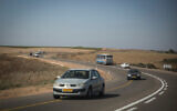 Illustrative: Cars travel on a road in the southern West Bank (Hadas Parush/Flash90)