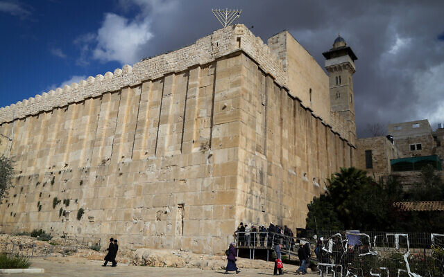 The Tomb of the Patriarchs in the West Bank city of Hebron, on December 30, 2019. (Gershon Elinson/Flash90)