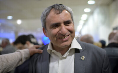 Then-environment protection minister Zeev Elkin attends the Likud Party's election campaign opening event in Jerusalem, on January 21, 2020.  (Gili Yaari/Flash90)