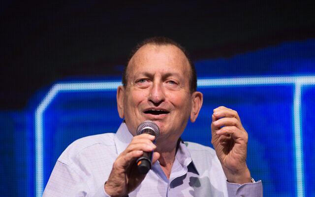 Tel Aviv Mayor Ron Huldai attends the annual international Municipal Innovation Conference in Tel Aviv, on February 19, 2020. (Miriam Alster/Flash90)