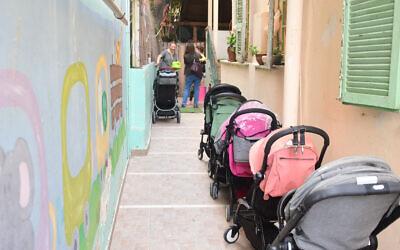 Illustrative photo of a kindergarten in Tel Aviv, May 10, 2020. (Avshalom Sassoni/Flash90)